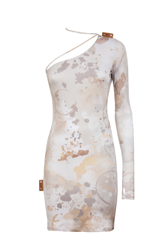 DIRTY ASIMETRIC DRESS