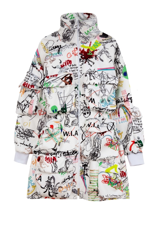 DAMAGED ART OVERSIZE JACKET