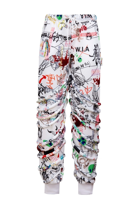BRUSHSTROKE SWEATPANTS
