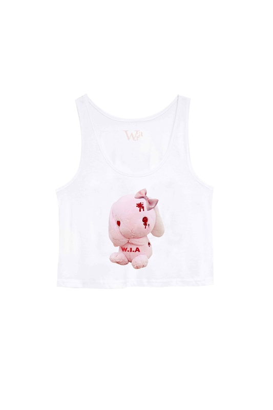 CUTE EVIL ORGANIC  COTTON CROP TANK