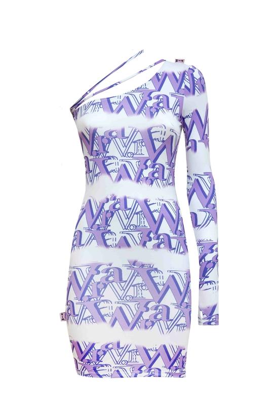 LOGO ASIMETRIC DRESS