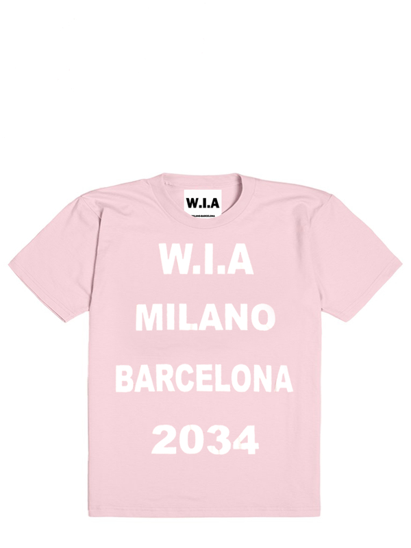 WIA MILANO BARCELONA 2034 PINK LIMITED TEE